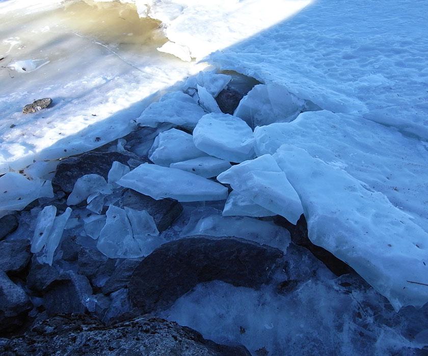 ice in Näsijärvi