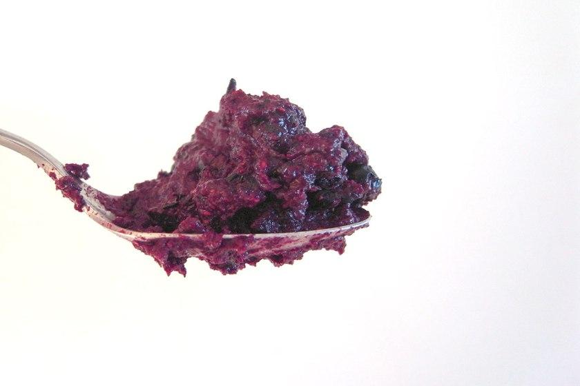 blueberry mush, mustikkapöperö